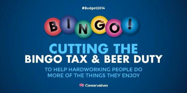 BUDGET 2014: BEER AND BINGO AND THE CONSERVATIVE PARTY